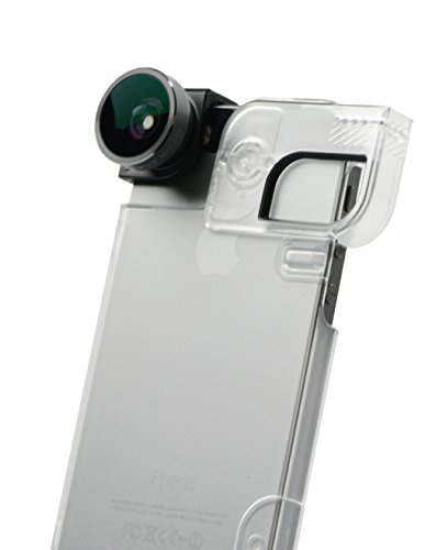 olloclip 4-in-1 Lens for iPhone 5/5s + Quick-Flip Case + Pro-Photo Adapter (Space Grey Lens/Black Clip/Clear Case)...