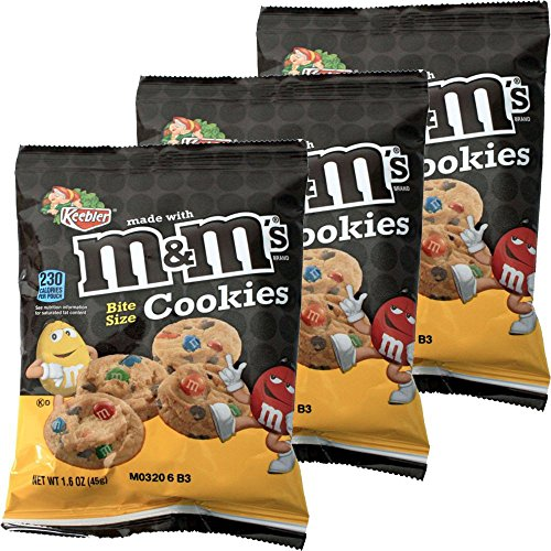 M&M`S Cookies Single, 3 x 51g Packung (Kekse mit M&M`s)